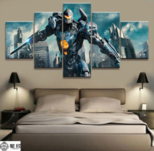 5 Pieces Pacific Rim Movie Mecha Poster Canvas Printed Wall Pictures Home Decor For Living Room Decorate Wholesale
