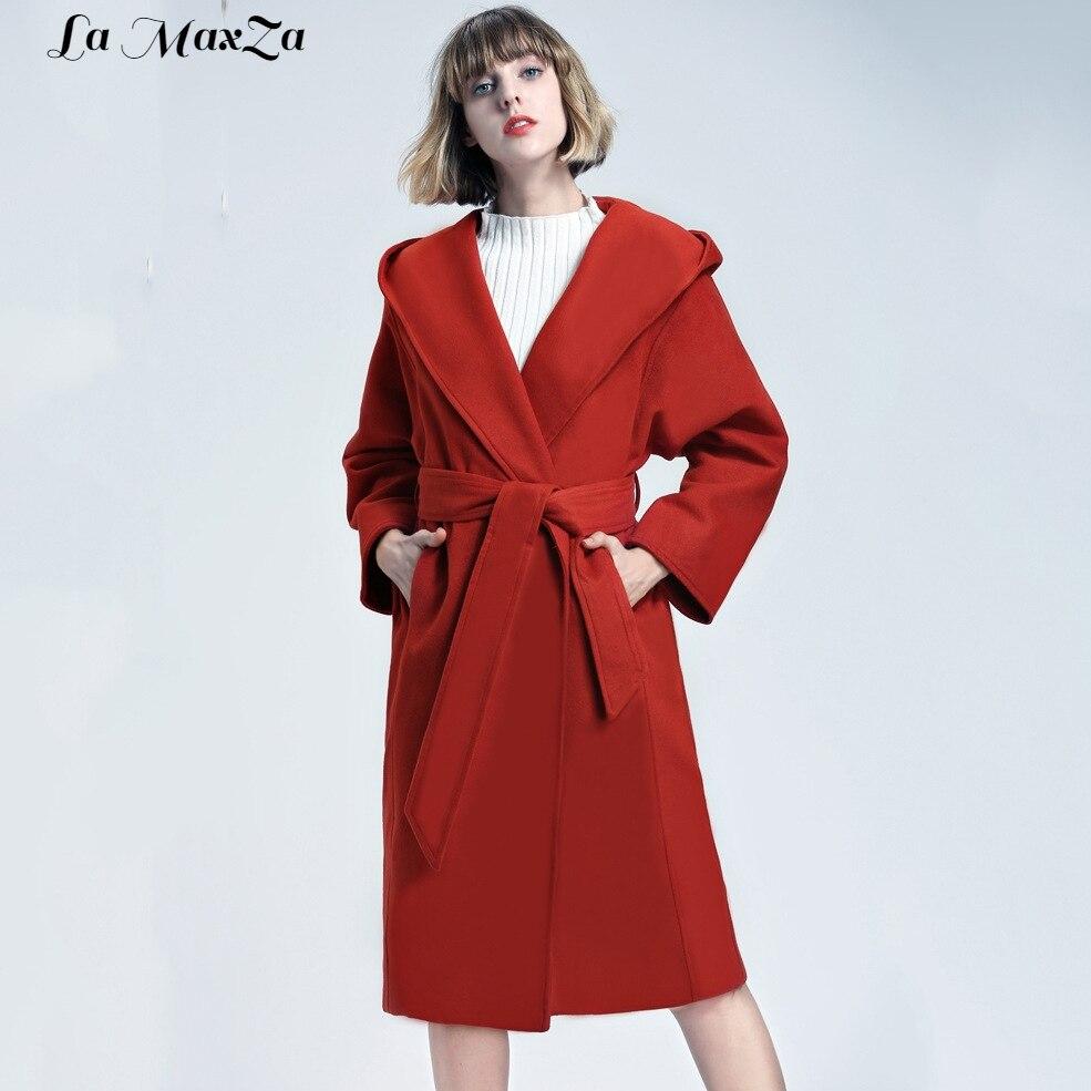 Fiocchi Fasce Cappotti Misto Giacca Casual Solido E Di Il Lana colore Rosa  rosso Inverno Nero cammello Cappotto Delle Donne Autunno rRxgqrw1 4d1c6f6a2e4