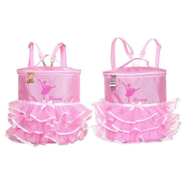 ae909338d811 Ballerina Ballet Tutu Dress Dance Bag Backpack Handy Pouch School For Children  Girls Cute Student Kids Backpack Bags Kid Girl