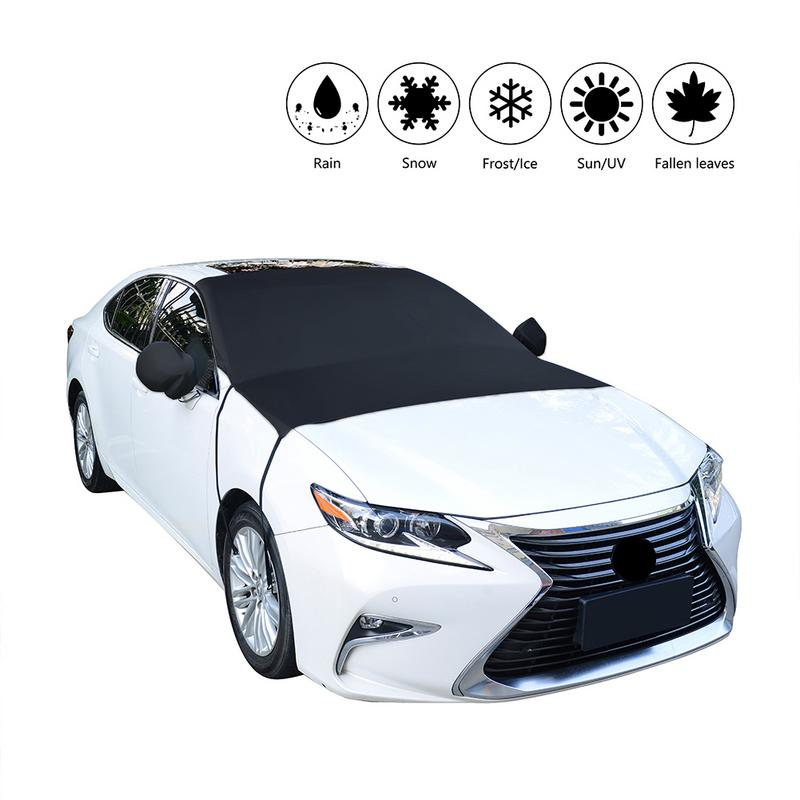 Car Front Windshield Cover Snow File Anti-frost Anti-icing Half Car Clothing Car Cover Protection Cover