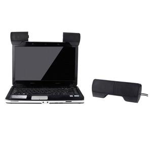 Image 4 - ミニポータブルusbステレオスピーカーサウンドバーノートパソコン用Mp3電話音楽プレーヤーコンピュータpcクリップ黒