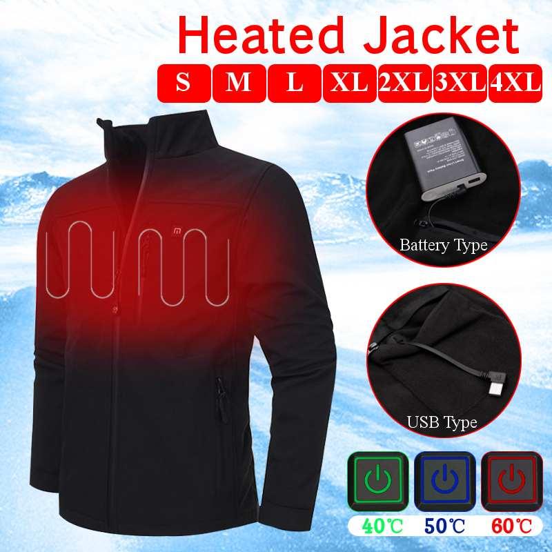 Upgraded Mens Womens Outdoor USB Infrared/Heated Battery HeatingJacket Winter Carbon Fiber Electric Thermal Clothing Jacket цена в Москве и Питере