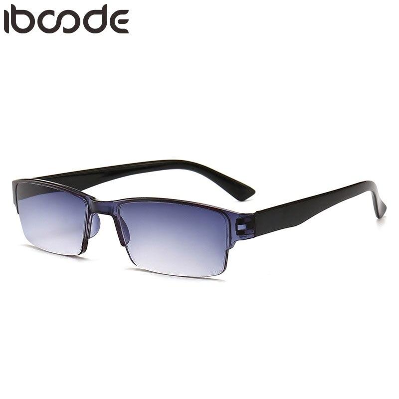 iboode Retro Ultra Light Reading Glasses Men Women Half Frame For Read Unisex Resin HD Eyewear +1.0 1.5 2.0 2.5 3.0 Male