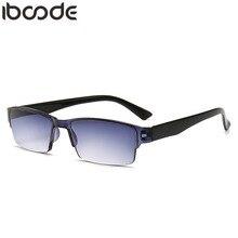 7569872a4a4 iboode Retro Ultra Light Reading Glasses Men Women Half Frame Glasses For  Read Unisex Resin HD