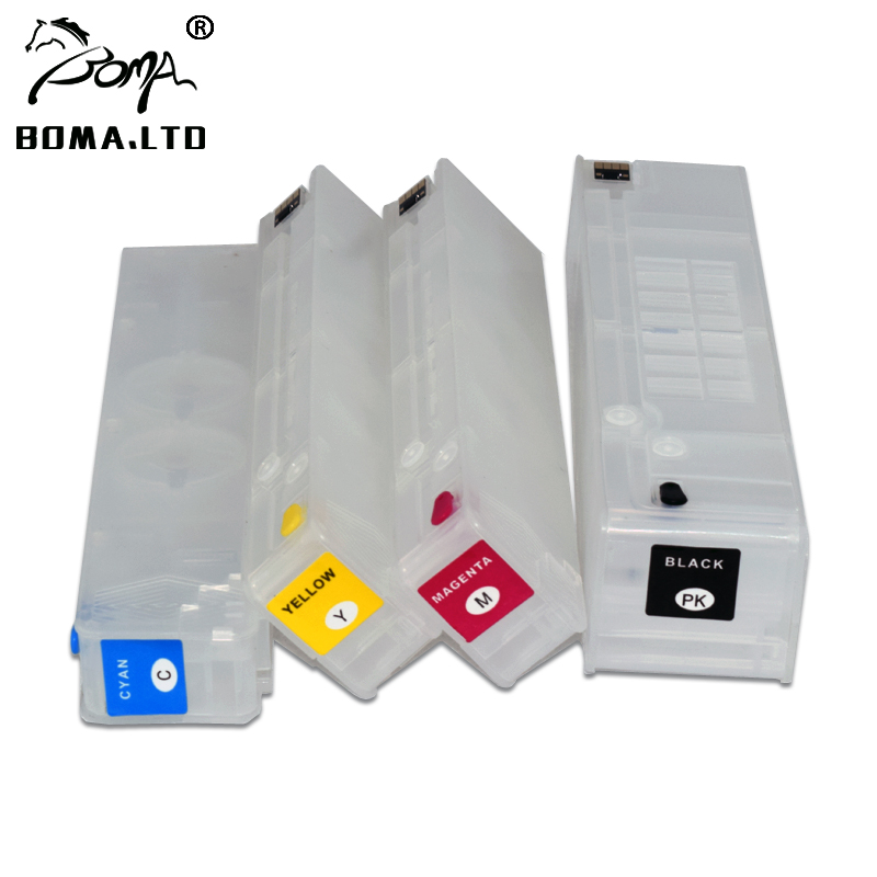 BOMA.LTD 4 Color/Lot Refill Ink Cartridge For <font><b>HP</b></font> <font><b>980</b></font> Officejet X585dn 585f 585z 555dn 555xh With Permanent ARC Chip image
