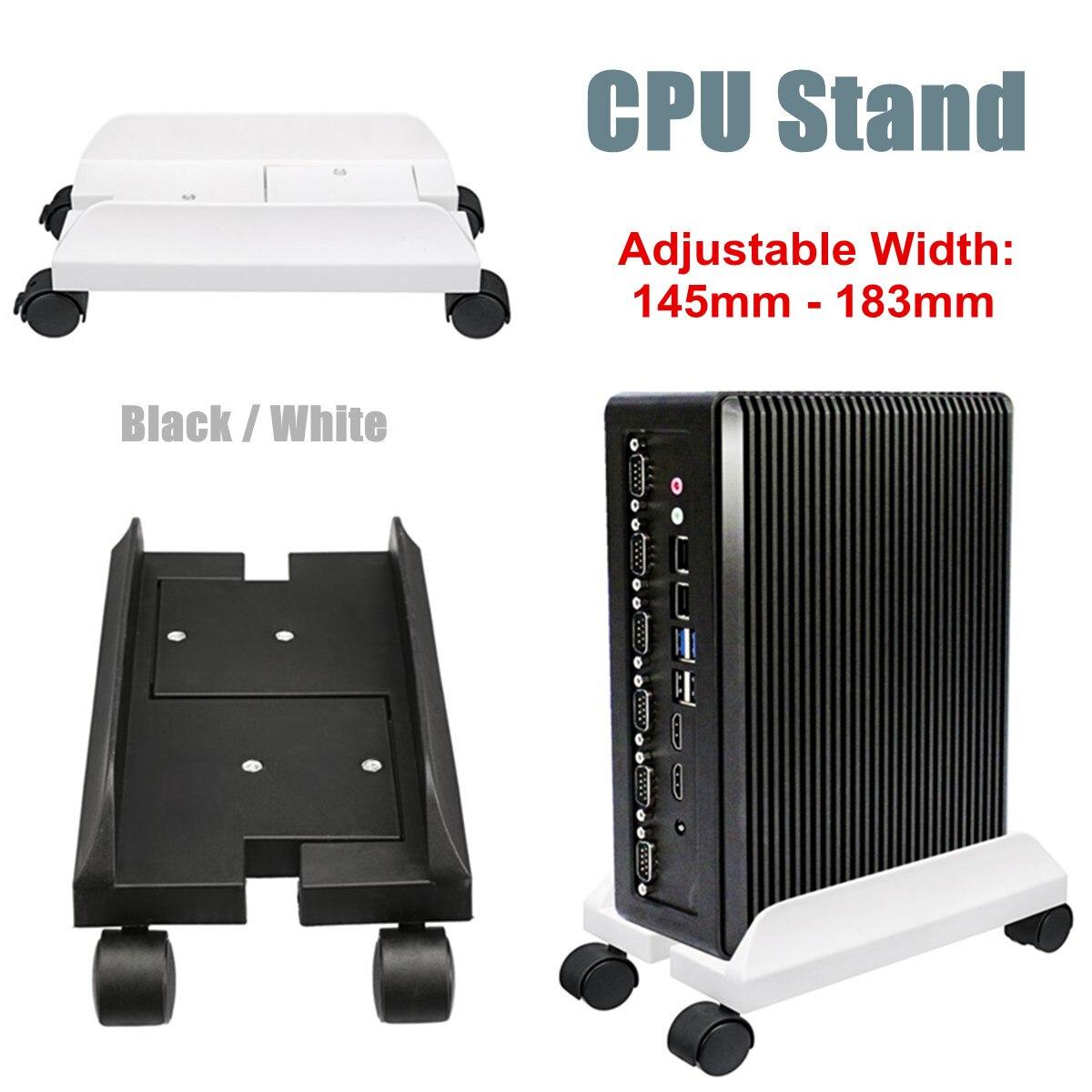PC Case Desktop CPU Stand Holder Computer Tower Rolling Wheels Adjustable Wide Mobile ABS Plastic Pulley Case Slide