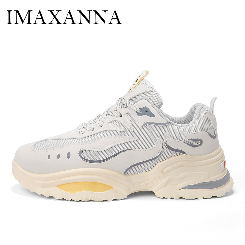 IMAXANNA New Mens Sneakers 2019 Mesh Lace Up Sport Shoes Breathable Fashion Daddy Shoes Man Chunky Shoes Outdoor Running ShoesIMAXANNA New Mens Sneakers 2019 Mesh Lace Up Sport Shoes Breathable Fashion Daddy Shoes Man Chunky Shoes Outdoor Running Shoes