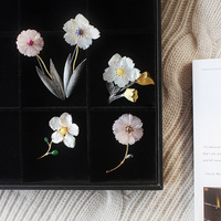 free shipping strange pearls Furong stone Flower brooches collection