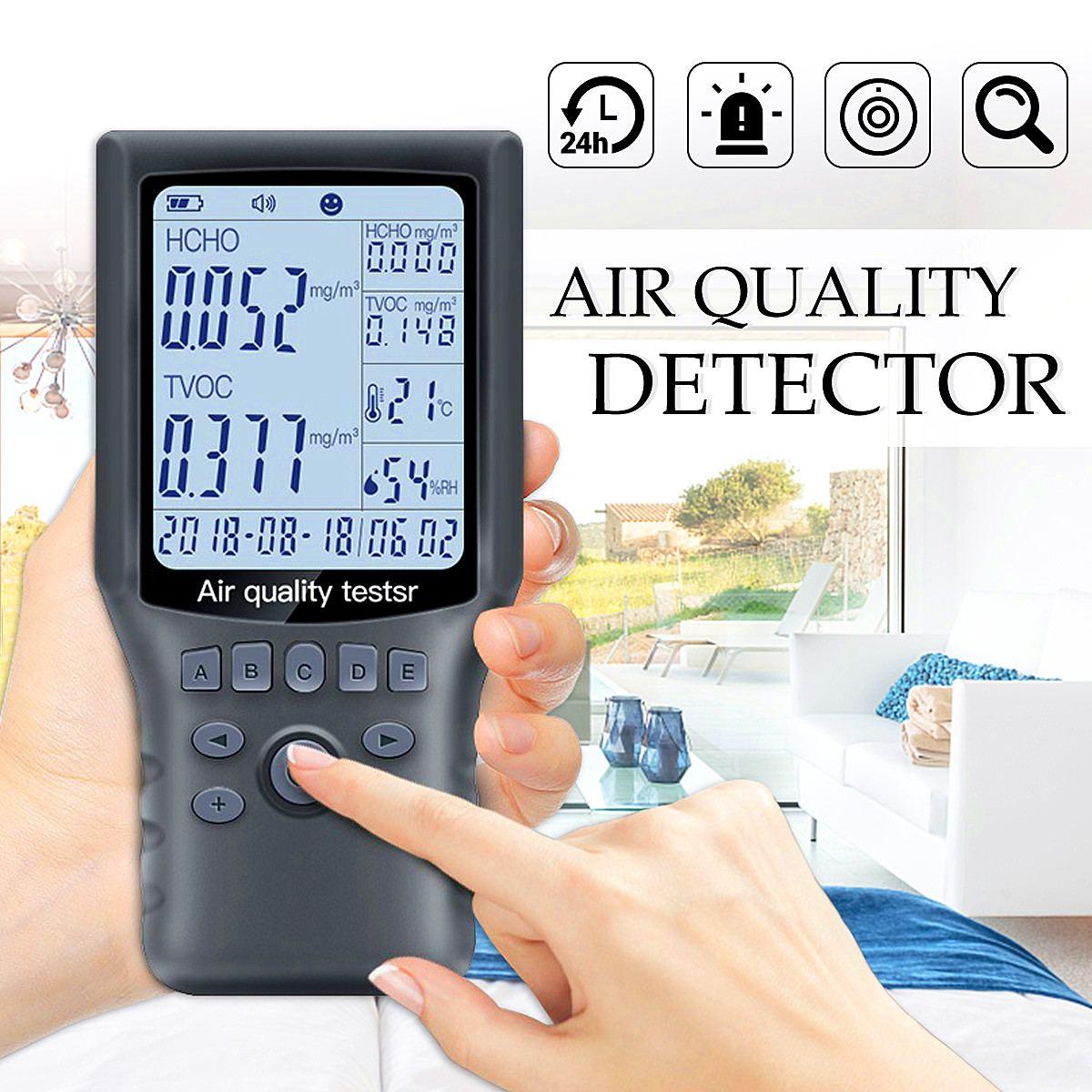 Nouveau Portable Air Qualité Détecteur HCHO COVT Testeur moniteur gaz/Analyseur De Gaz/Température/hygromètre Maison De Voiture Outils De Diagnostic