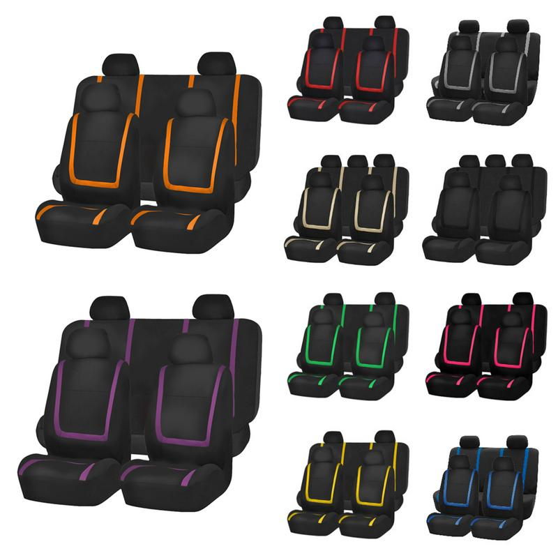 Auto-Seat-Covers Interior-Accessories Truck Four-Seasons Universal 9 for Car Sedan 10-Colors