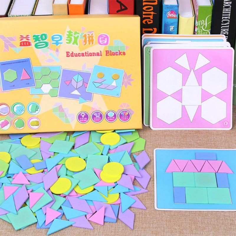 190pcs Creative Children Puzzle Games Educational Toys Kids Jigsaw Puzzle Learning Wooden Toys