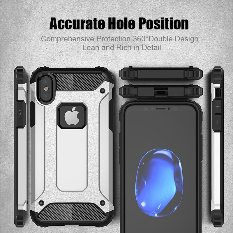 Hard PC Case For iPhone 6 7 8 Plus Full Protection Cover For iPhone X XS XS Max XR TPU Armor Case Cover Conque Shockproof in Fitted Cases from Cellphones Telecommunications