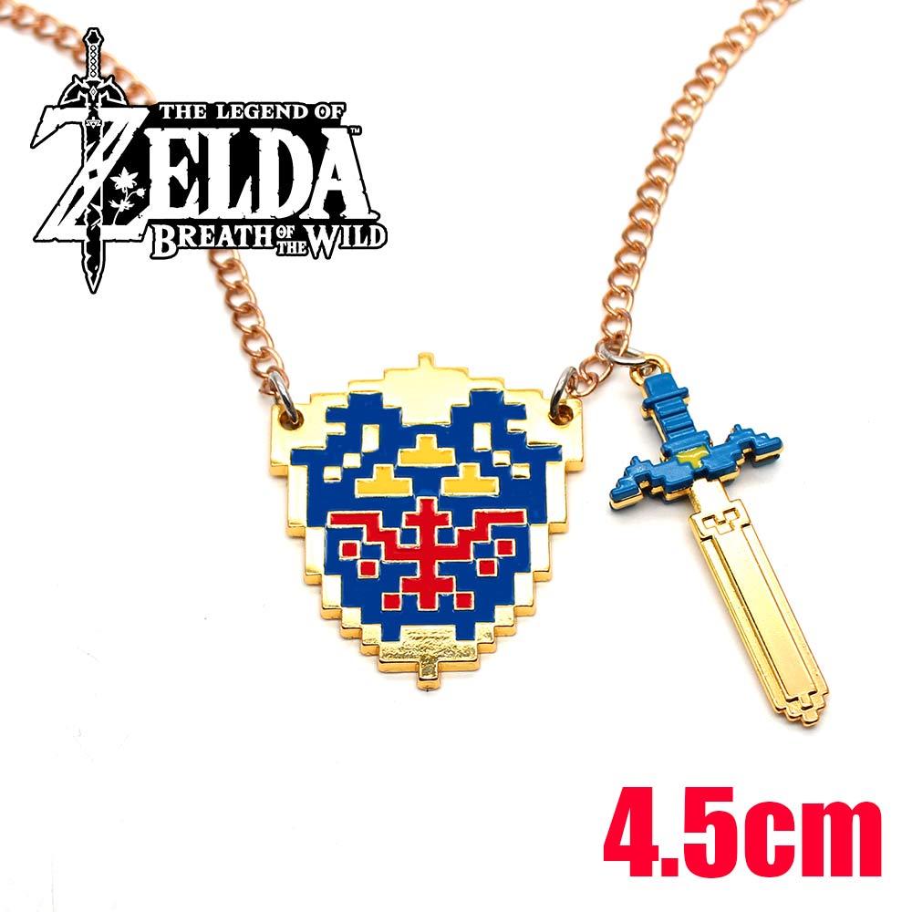 Wellcomics Game The Legend of Zelda: Skyward Sword Link Symbol Metal Handmade Pendant Necklace Chain Ornament Cosplay Collection