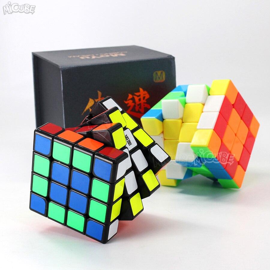 Moyu Aosu GTS2M GTS2 M 4x4x4 Cube magnétique vitesse Puzzle Cubo Magico 4x4 Aosu GTS V2 M pour jouet enfant noir sans autocollant professionnel - 2
