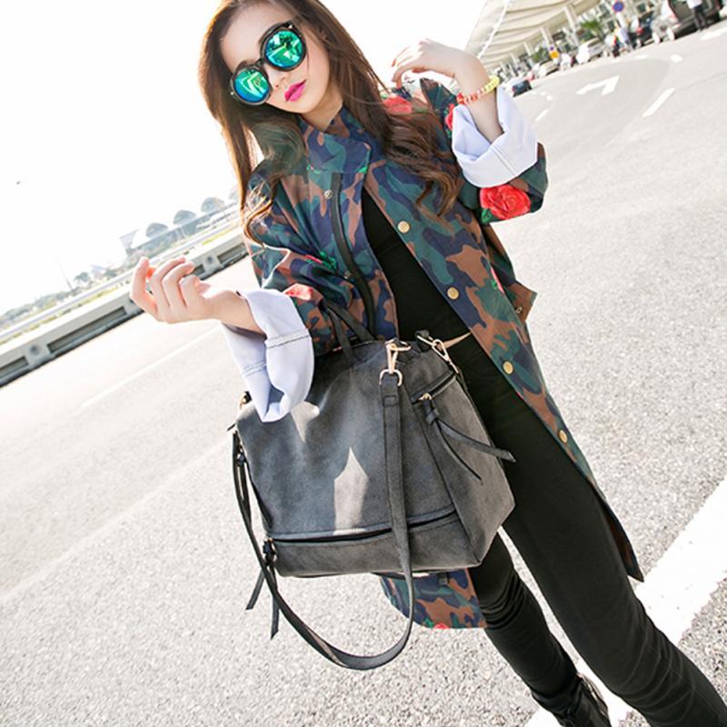 Women Messenger crossbody Bag Matte Leather Nubuck Leather Handbag Vintage Solid tote Single Shoulder Bag* 6