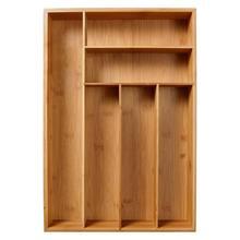 5/6-Grid Kitchen Non-Retractable Bamboo Cutlery Tray Storage Box Tableware Storage Box Kitchen Jewelry Tools Drawer Organizer