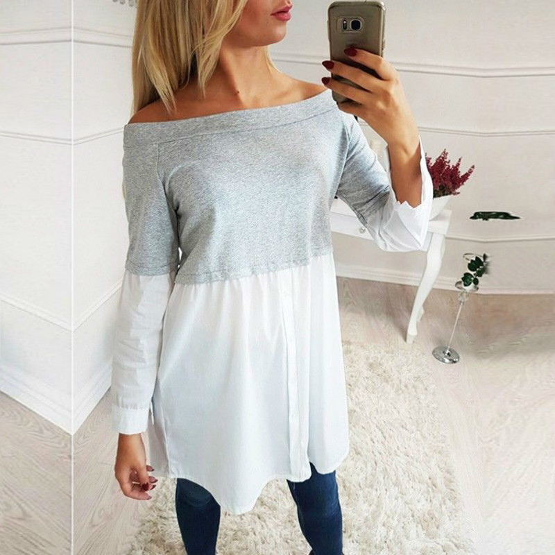 Casual Maternity Blouse Women Clothing 2018 Autumn Ladies Patchwork Long Sleeve Tops Pregnancy Tees Shirts For Pregnant Women