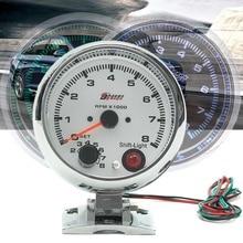 0~ 8000 об/мин 7 цветов светодиодный Тахометр с подсветкой датчик WhiteWorks на 4 6 8 цилиндровых двигателях Универсальный подходит 12 В бензиновый автомобиль