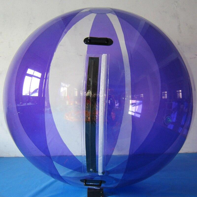 O Envio gratuito de 1.0 milímetros Tpu 2.0 m Moda Waterballs Design, Qualidade super Passeio Bolha, esfera inflável Da Água Pé Bolas com Zipper