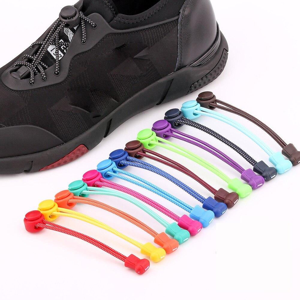 1 Paar Schnürsenkel Unisex Keine Krawatte Locking Runde Schnürsenkel Elastische Schnürsenkel Sneaks Schnürsenkel Für Männer Und Frauen Großhandel