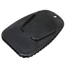 Mayitr 1pcs Black Universal Motorcycle Plastic Kickstand Side Stand Support Plate Pad Base