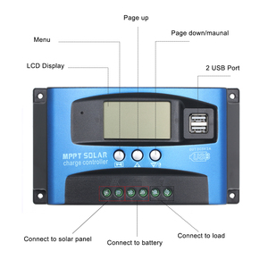 Image 4 - 30/40/50/60/100A MPPT Solar Charge Controller Dual USB LCD Display Auto 12/24V Solar Cell Panel Charger Controller Regulator