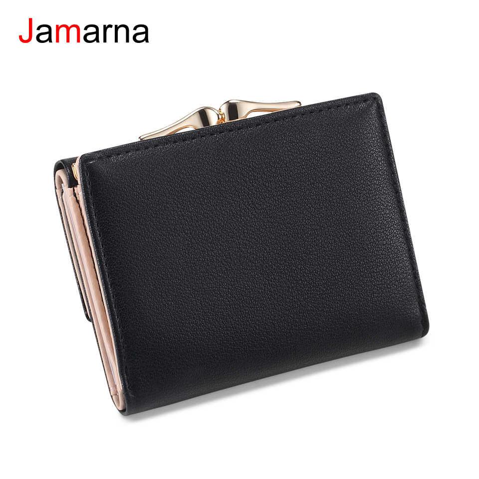 Кошелек jamarna женский маленький кошелек застежки карманные полиуретановый Кошелек для монет застежки красный тонкий кошелек держатель для карт элегантный стиль высокое качество