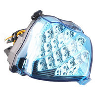 Moto LED Rear Turn Signals Tail Light Integrated For Yamaha YZFR1 YZF R1 YZF R1 2004 2005 2006 Blue