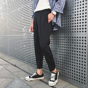 Image 2 - Pantalon pour homme, tendance, confortable, grande taille, 2020, en coton doux, couleur blanc/noir, collection pantalons décontractés