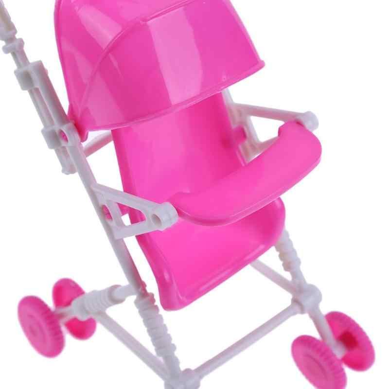 Plastikowe akcesoria dla lalek wózek dziecięcy wózek wózek meble do przedszkola lalka dla dzieci domek do zabawy dla dziewczynki zabawka do odgrywania ról dla dzieci