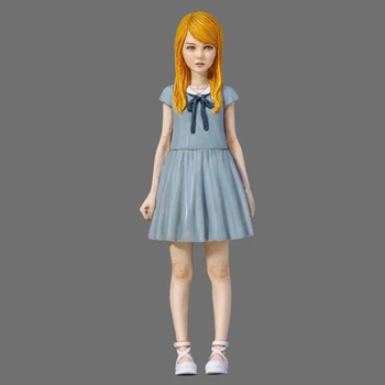 1//35 Standing Beautiful Girl Serie Resin Soldier Model I4Y1