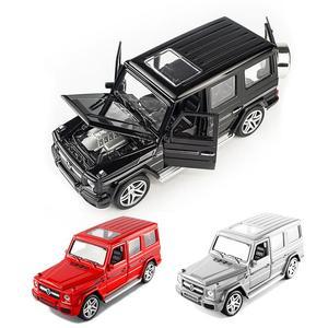 Image 2 - 1:32 stop wycofać Model Model samochodu zabawka dźwięk światło wycofać zabawka samochód dla G65 SUV AMG zabawki dla chłopców dzieci prezent