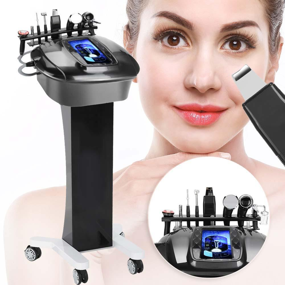 8 In 1 Ultrasonic Scrubber Cold/Hot Hammer Oxygen Sprayer Facial Skin Care Device Care Massage Beauty Face Care Device