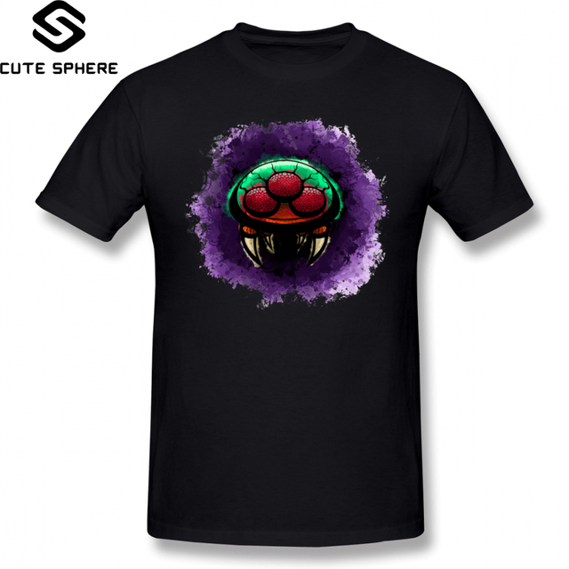 Metroid T Shirt Series Metroid T-Shirt Fun 5x Tee Shirt Male Basic 100 Cotton Short Sleeve Graphic Tshirt