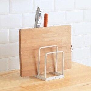 Image 5 - Herramienta de cocina de hierro forjado estante de almacenamiento de cuchillos estante de drenaje de cocina tabla de corte estante de almacenamiento Vertical soporte de herramientas