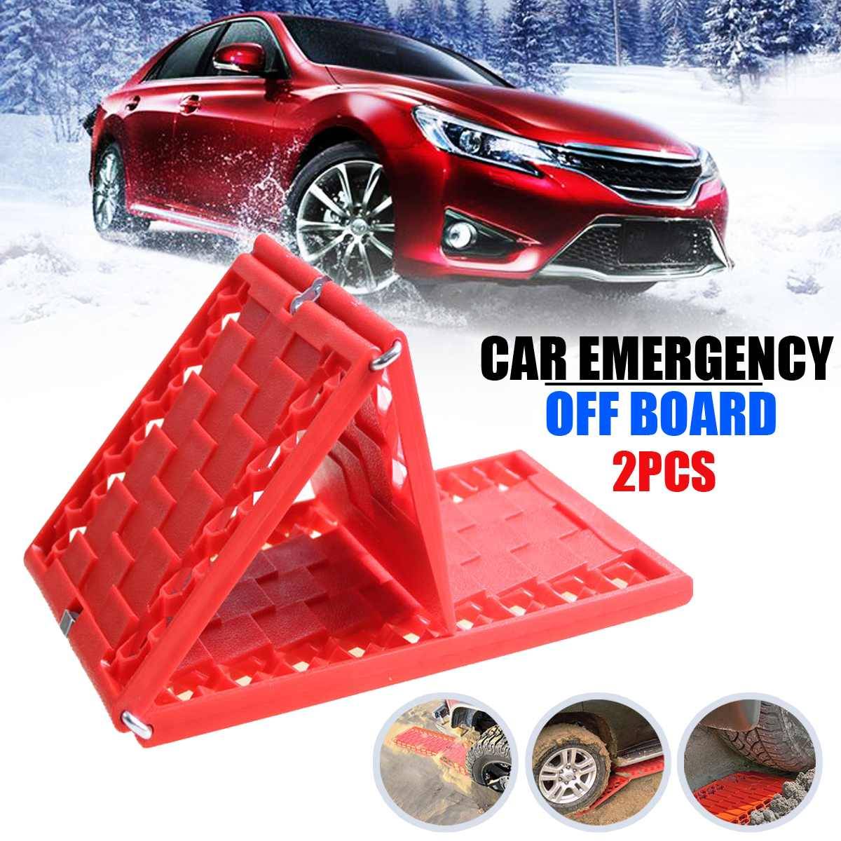 Frugal 2pcs/set Tyre Grip Tracks Mats Car Security Snow Mud Sand Rescue Escaper Traction Tracks Mats For Emergency Relief Solid Firm The Latest Fashion Winter Goods