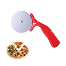 Резак из нержавеющей стали нож для пиццы Инструменты для торта колеса для пиццы ножницы идеально подходят для пиццы, Пирогов, вафель и теста печенье(красный