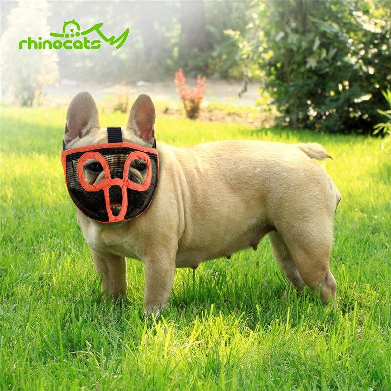 Muzzle For Dog Pet Breathable Mesh Dog Mouth Mask Anti Biting Muzzle For Small Medium Short Snout Dog Pitbull Chihuahua Bulldog