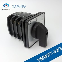 Rotary Cam Switch 3 position ON-OFF-ON 32A 660V poles  Custom Changeover switches with screws terminal YMW27-32/3