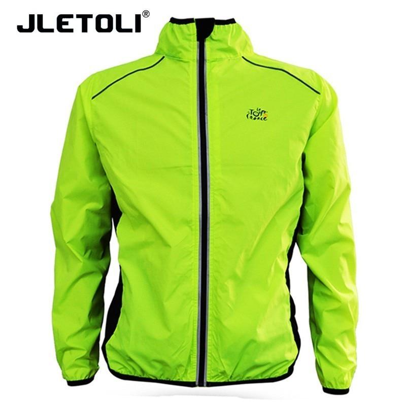 79c37c377 Casaco À Prova de Chuva Ciclismo Jaqueta Blusão de Homem Sports Reflective  JLETOLI Roupas Tour De France Ciclo Proteção UV Tops