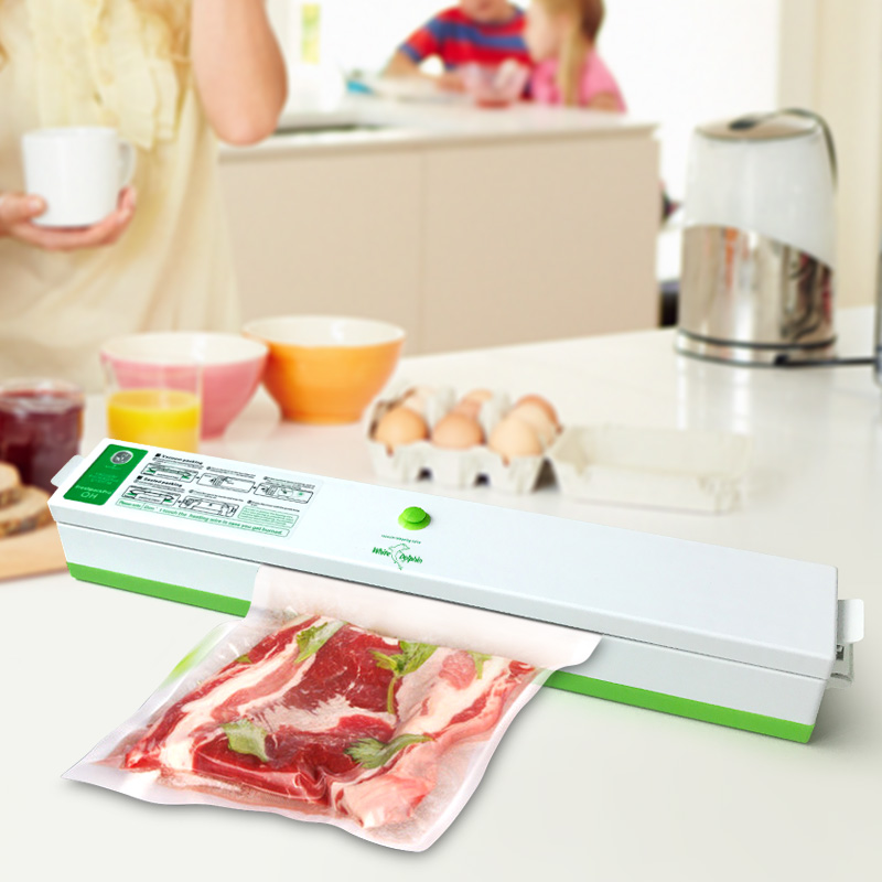 Máquina de Embalagem do Alimento domésticos Vacuum Sealer Sacos De Armazenamento De Vedação Embalador A Vácuo Selador Filme Incluindo 15 Pcs Aferidor do Vácuo de Alimentos
