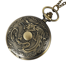 цены Antique Fiery Dragon Fire Quartz Pocket Watch Necklace Pendant Men Gift New  nightmare before christmas