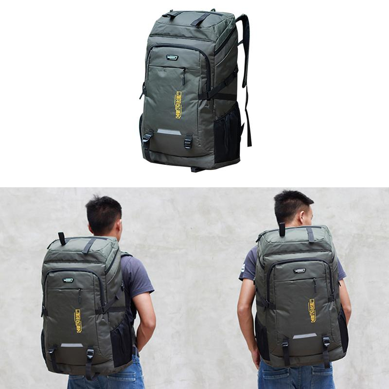 80L Large Capacity Outdoor Hiking Mountaineering Bag - Long Distance Travel Luggage Backpack Camping Bag