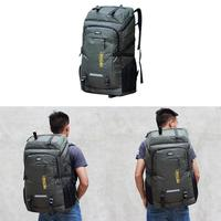 80L Large Capacity Outdoor Hiking Mountaineering Bag Long Distance Travel Luggage Backpack Camping Bag