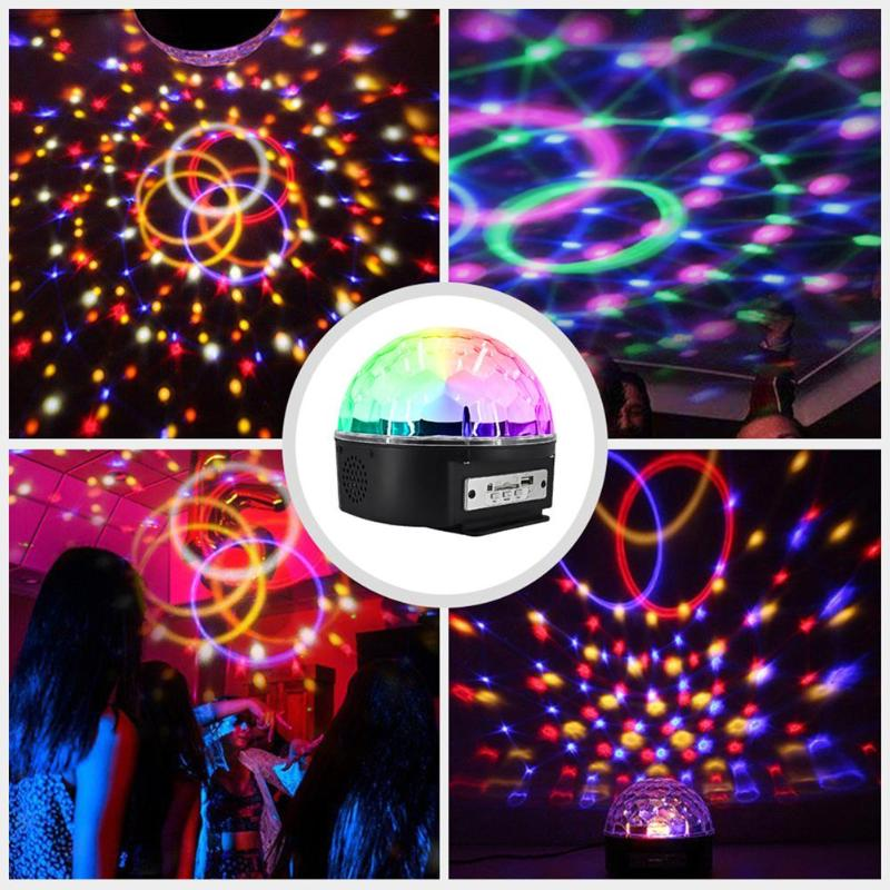 9 LED Disco Stage DJ Lights With Remote Control Crystal Magic Projector Sound Activated KTV Club Karaoke Lighting Show Lamp
