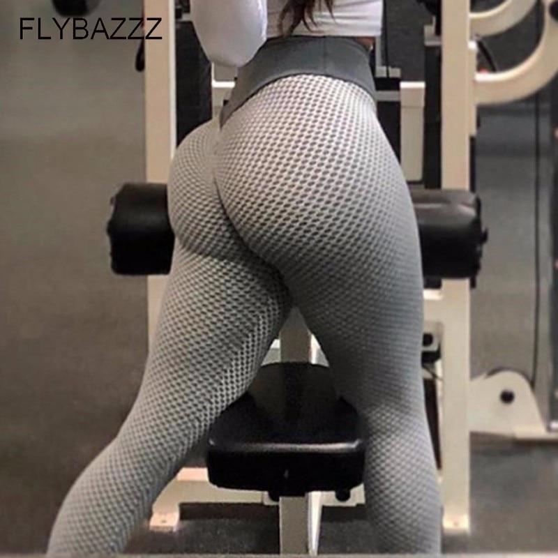 New Honeycomb Printed Yoga Pants Running Gym Sports Slim Leggings Tights Leggins Women Yoga Pant Push Up Fitness Legging Trouser in Yoga Pants from Sports Entertainment