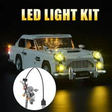 Toy Model FOR Lego Aston Martin LED Lighting Toy Car Display Ornament Model Spare Parts Lighting Building Block Car(China)