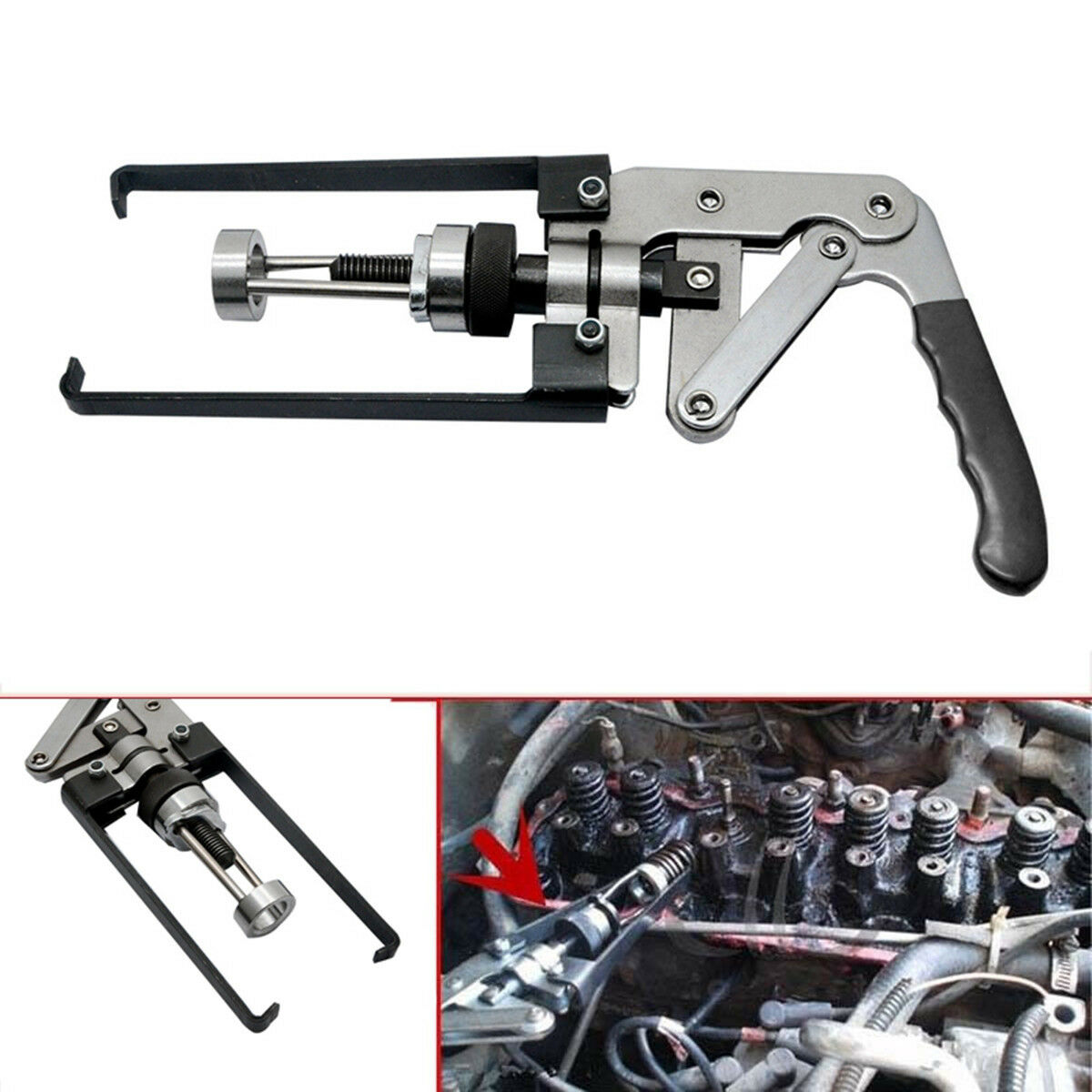 Engine Overhead Cam Valve Spring Compressor Removal Tool OHV/OHC/CHV Auto Motors