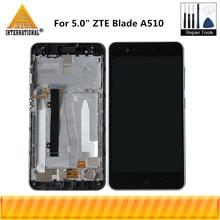 "Axisinternational 5.0 ""Per ZTE Lama A510 Display LCD Screen + Touch Panel Digitizer Con Telaio Per ZTE Lama A510 display A CRISTALLI LIQUIDI"