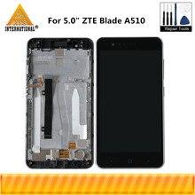 """Axisinternational 5.0 """"ZTE Blade A510 LCD ekran ekran + dokunmatik Panel sayısallaştırıcı ile çerçeve için çerçeve ile ZTE Blade A510 ekran LCD"""